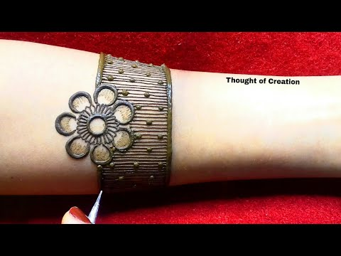 Shaded Flower Full Hand Bridal Mehndi Design |Thought of Creation thumbnail