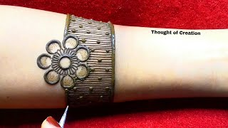 Shaded Flower Full Hand Bridal Mehndi Design  Thought of Creation