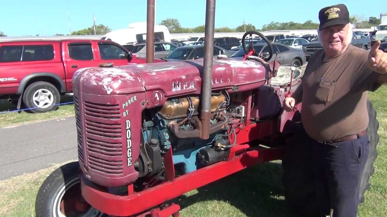 1944 international tractor with 1981 dodge 360 v8 engine hear it start up and run on video youtube. Black Bedroom Furniture Sets. Home Design Ideas