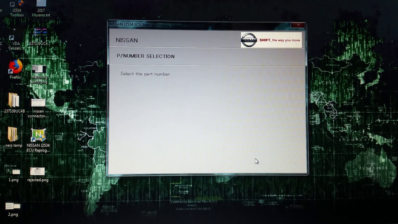 Ners nissan j2534 reprogramming issue  Matching entry not found in ONC file
