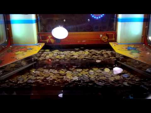 Jackpot on China coin dozer machine in Hong Kong Jumpin gym