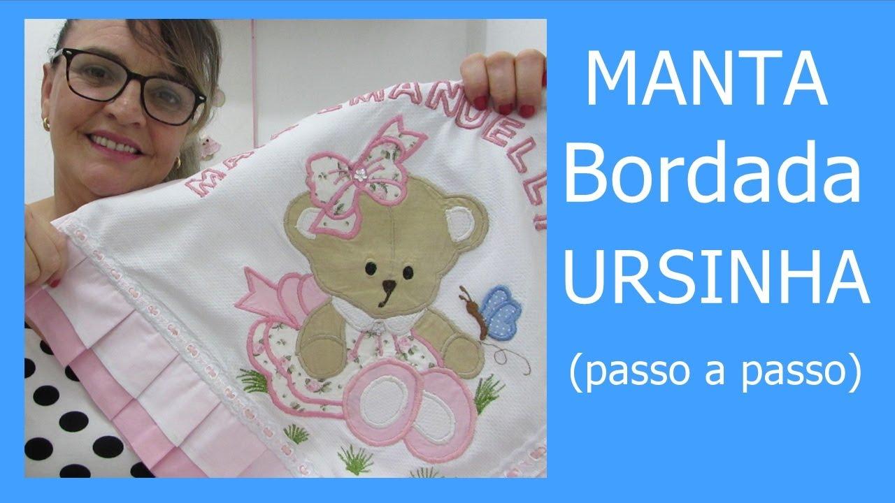 MANTA URSINHA  BORDADA