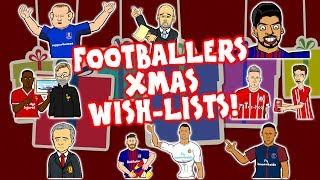 🎁⚽️FOOTBALLERS XMAS WISH-LISTS⚽️🎁 (Parody feat. Messi Ronaldo Neymar Coutinho and more!)