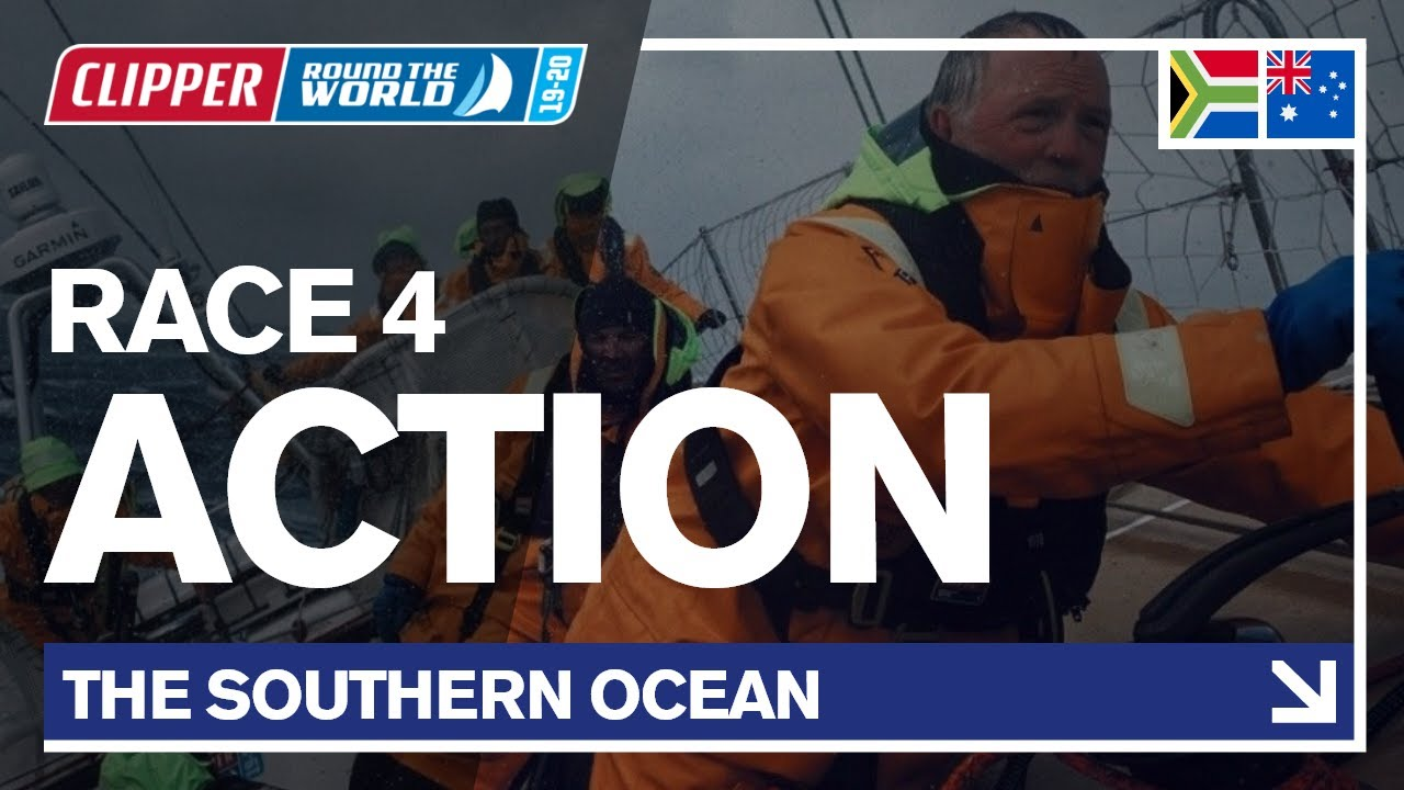 Race 4 Action Sailing The Southern Ocean Clipper 2019 20 Race Youtube