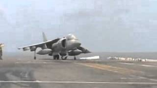 jato Harrier - pouso e decolagem na vertical