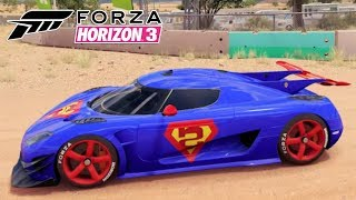Carro do SuperMan Koenigsegg One - Forza Horizon 3 Gameplay PC
