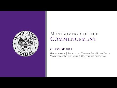 Montgomery College Commencement 2018