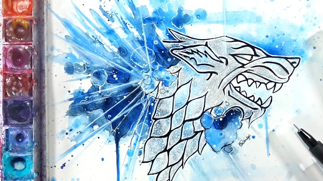 Drawing The House Stark Sigil