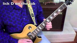 Allman Brothers guitar lesson - One Way Out - full solo, lick-by-lick, free tab download