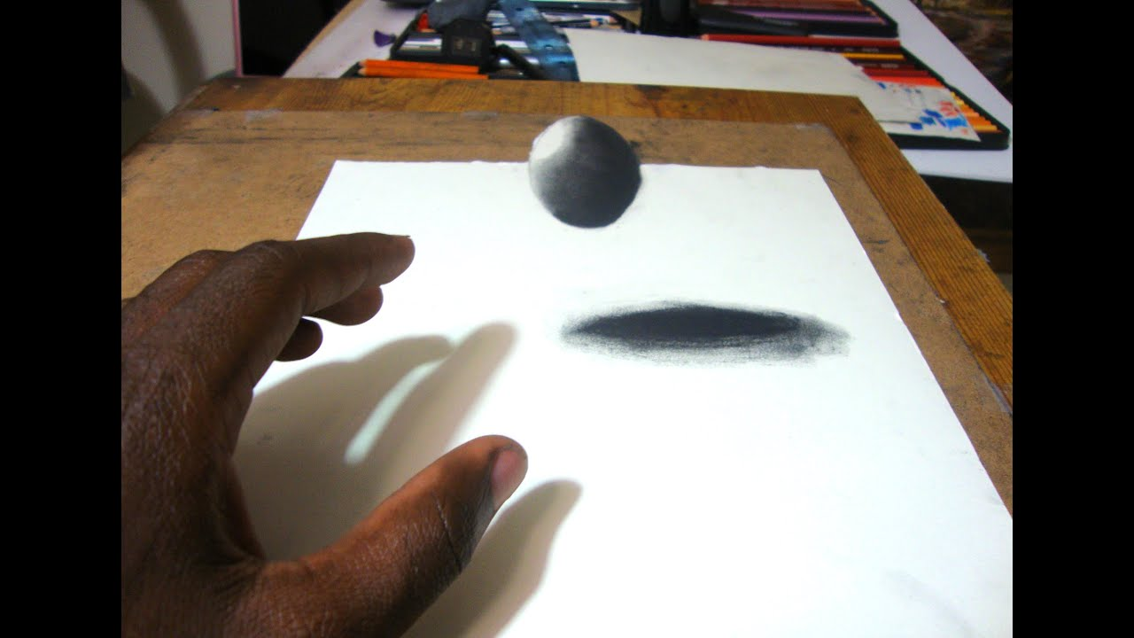 Easy Way to Draw a 3D Floating Ball - YouTube