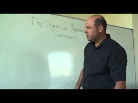 The Origin of Prepositional Government (A Lecture in General Linguistics)