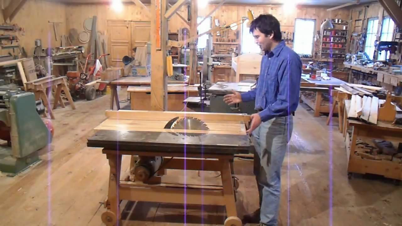 Dad's homemade table saw - YouTube