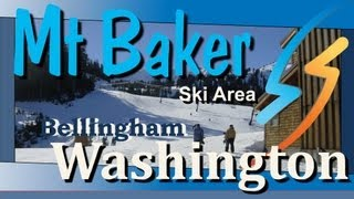 Mt Baker Vocano And Mount Baker Ski Area East of Bellingham Washington thumbnail