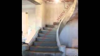 Бетонные монолитные лестницы(