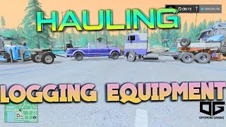 Farming Simulator 2017 - Hauling Forestry Equipment w/ Freightliner Cab Over