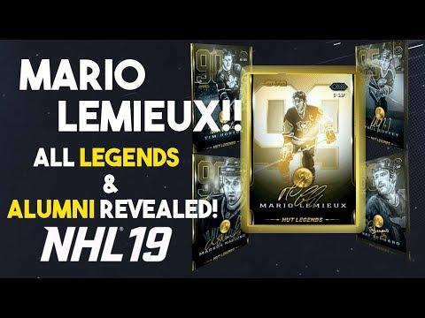 LEMIEUX RETURNS! ALL LEGENDS AND ALUMNI IN NHL 19 HUT!