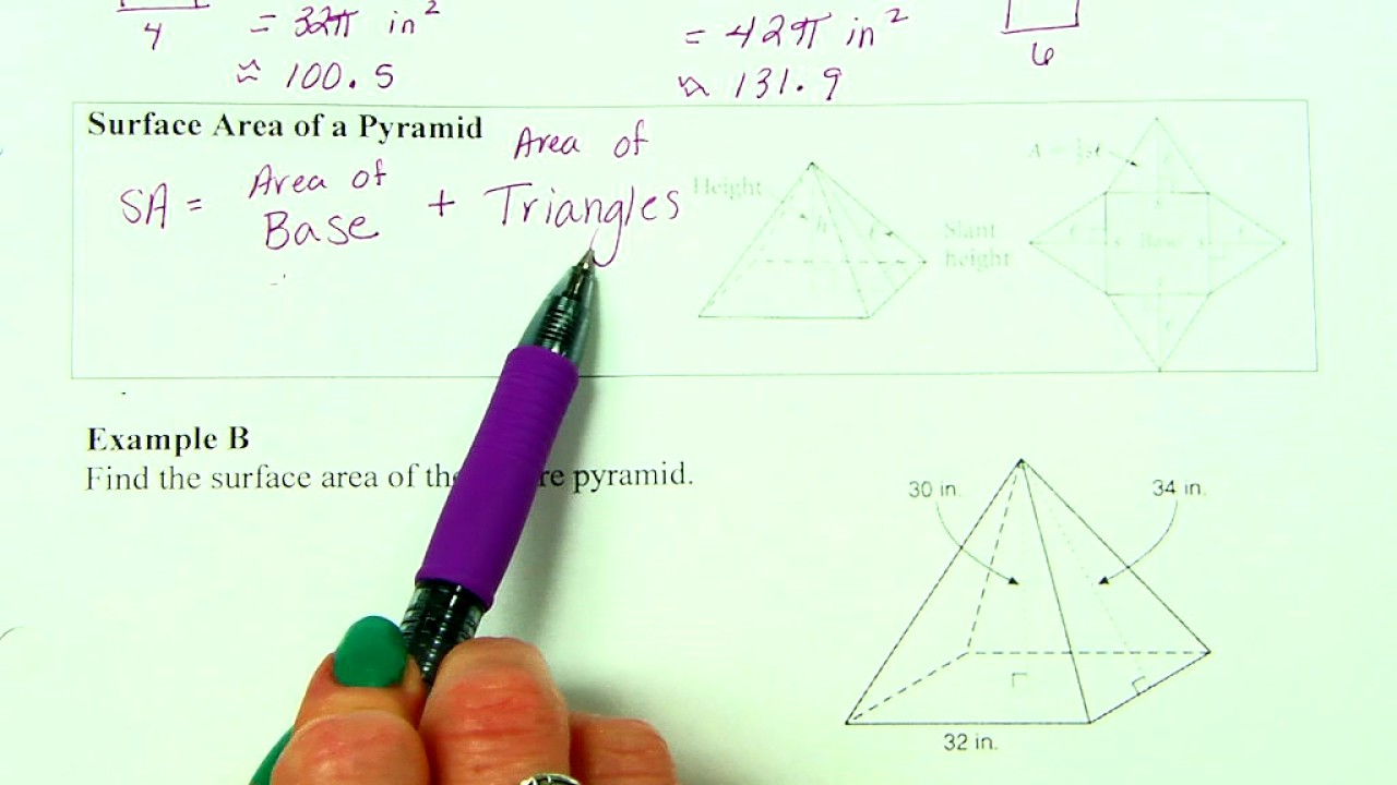 Surface Area Of Cylinders, Pyramids & Cones