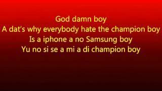 Champion Boy - Alkaline ~ Raw (Lyrics!!)