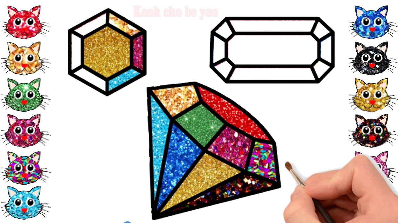 Diamond Coloring Pages For Kids