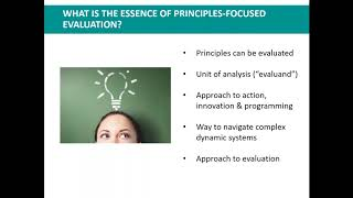 Principles Focused Evaluation Webinar