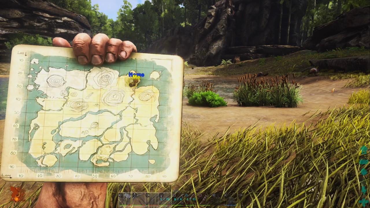 Ark Karte The Island.Ark Ps4 Die Karte Tutorial Ark Survival Evolved Playstation 4 Deutsch