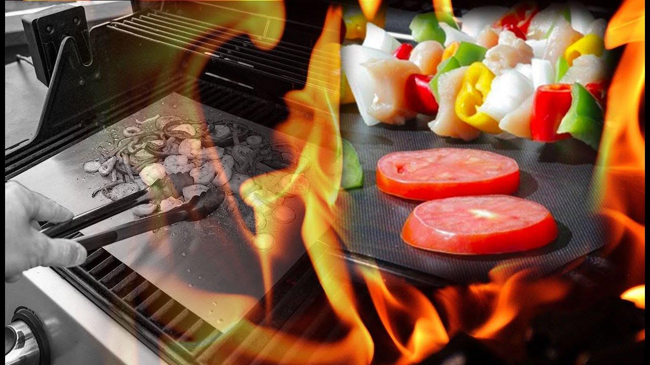 Barbecue Gaz Sans Plancha feuille de cuisson pour bbq réutilisable - feuille de cuisson sans graisse  - le tuto 2019
