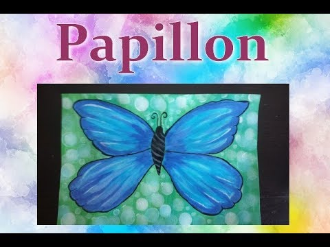Papillon Peinture Acrylique Facile A Faire Youtube
