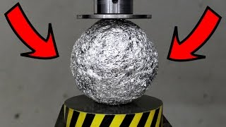 EXPERIMENT HYDRAULIC PRESS 100 TON vs ALUMINUM FOIL BALL thumbnail