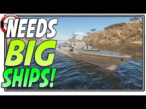 War Thunder Naval Forces needs big ships! (War Thunder Gameplay)