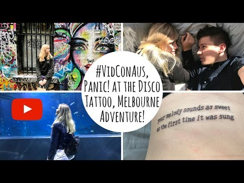 MY FIRST TATTOO + VIDCON AUS | Melbourne Travel Diary