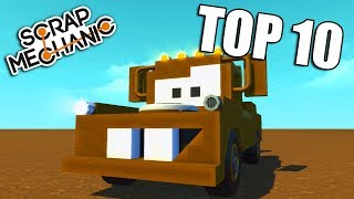 TOP 10 Filmových Vozidel v Scrap Mechanic