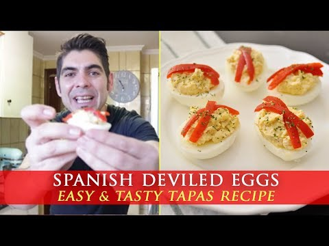 Spanish Deviled Eggs with Tuna – Tapas Recipe