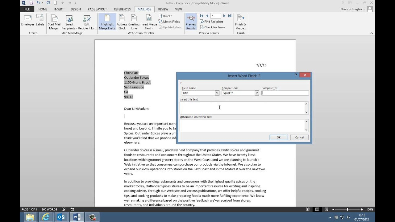 vba mail merge to pdf