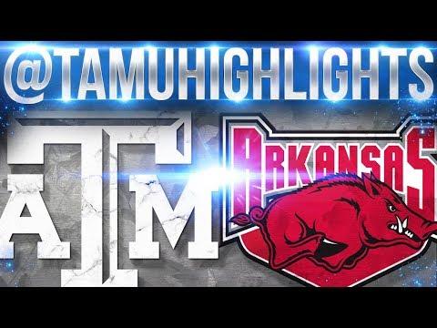 Texas A&M Highlights vs Arkansas 09-23-2017 ᴴᴰ