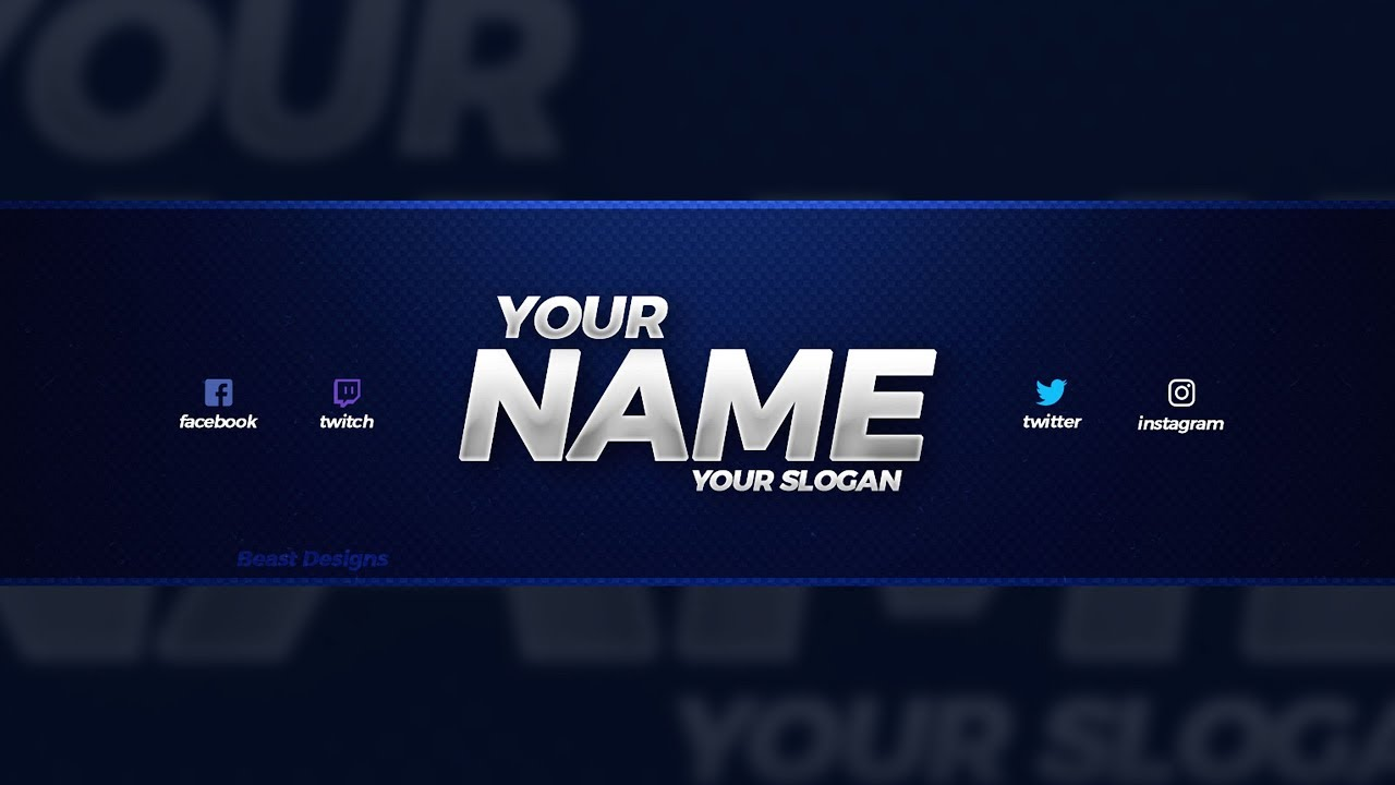 new free 2018 youtube banner template free youtube banner