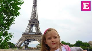 Париж #2 Эйфелева Башня - Ева Поднимается на самый верх - Tour Eiffel Eva Vlog