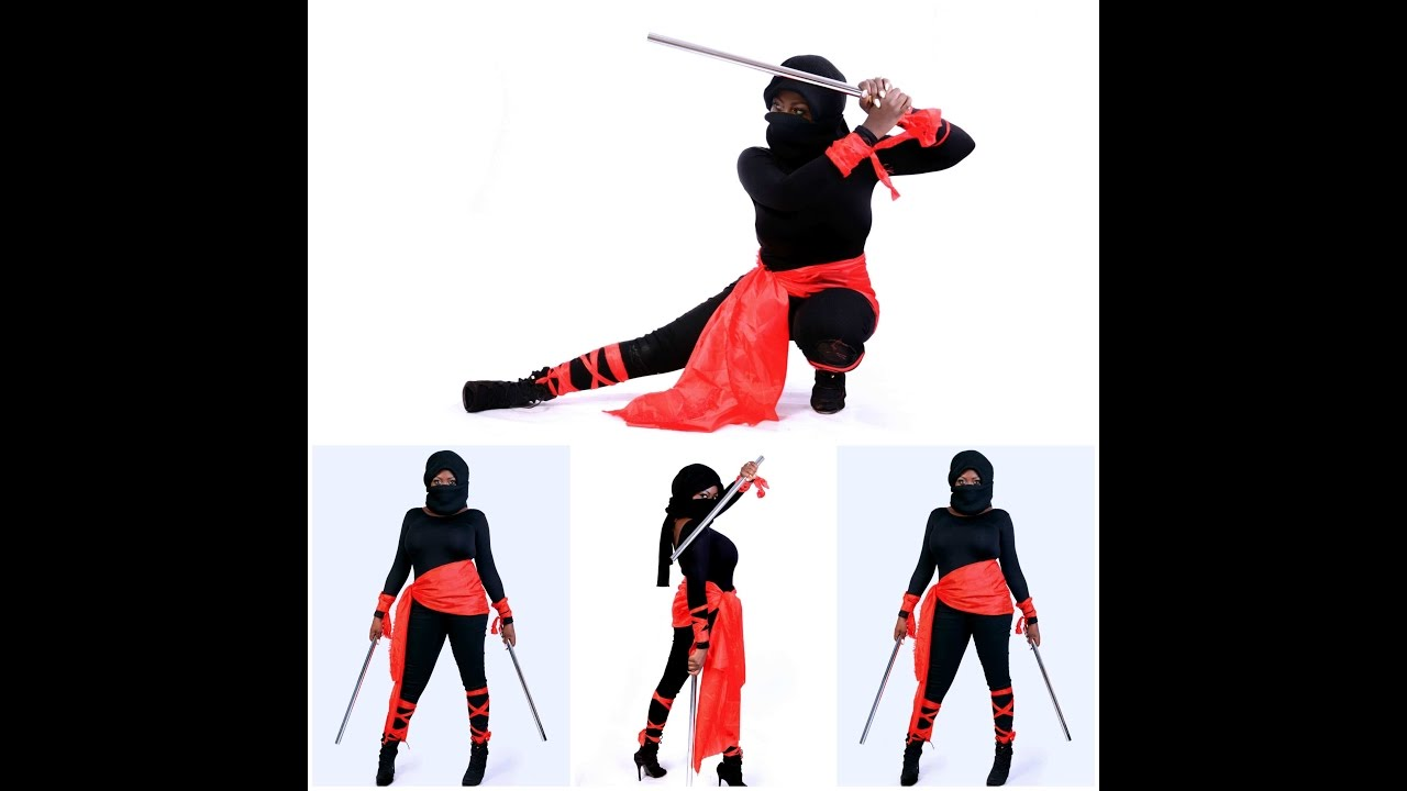 Halloween quick diy ninja outfit youtube halloween quick diy ninja outfit solutioingenieria Images