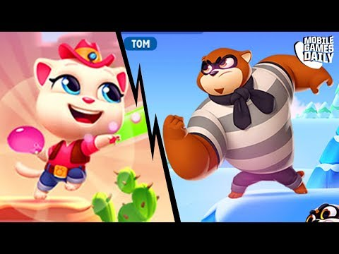 TALKING TOM SPLASH FORCE - Talking Angela VS Racoon Boss | Tom Hero Dash | Tom Gold Run