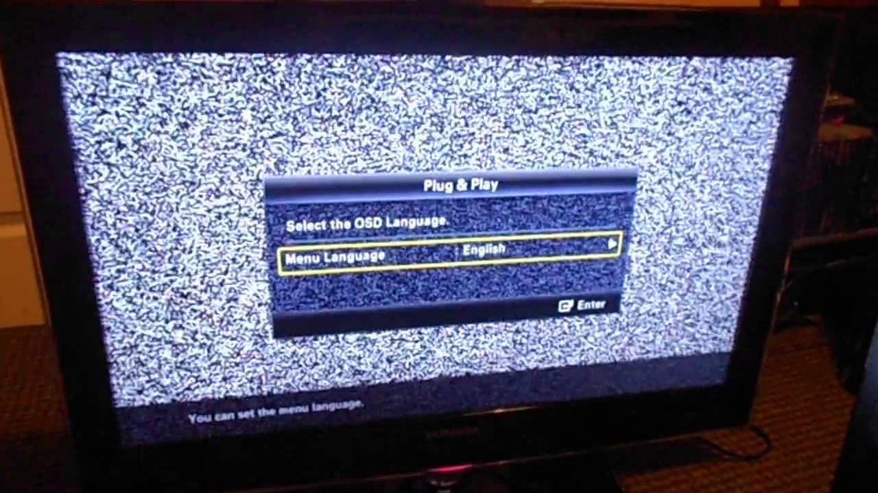 Samsung Ue32b6000 - Freeview  Dtv Not Working