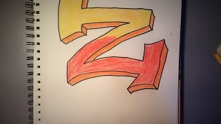 """How to Draw a Graffiti Style """"Z"""""""