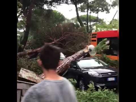 Hailstorm in Pescara, Italy