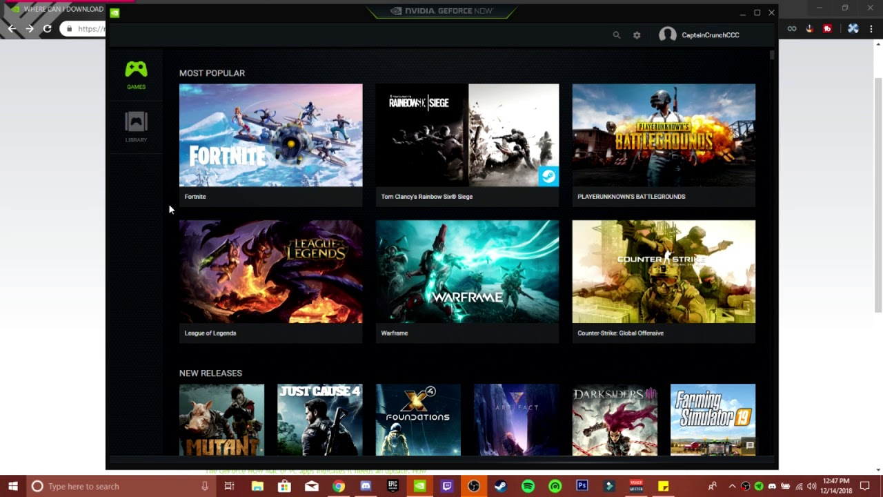 How to download Nvidia Geforce Now