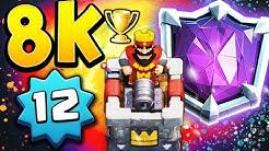 8000 Trophies as a level 12 - Clash Royale
