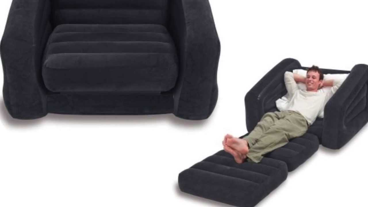 Intex Inflatable Pull-Out Chair & Twin Bed Mattress ...