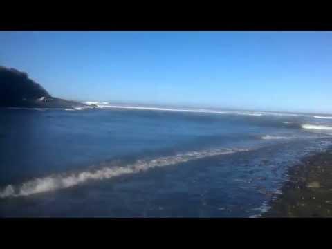 Kaupokonui Beach Camp  River & Tasman Sea Ocean Beach , South Taranaki New Zealand