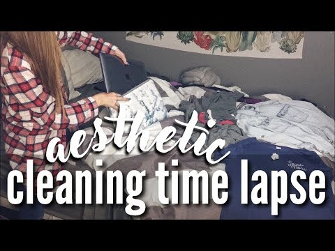 AESTHETIC ROOM/CLOSET CLEANING TIME LAPSE