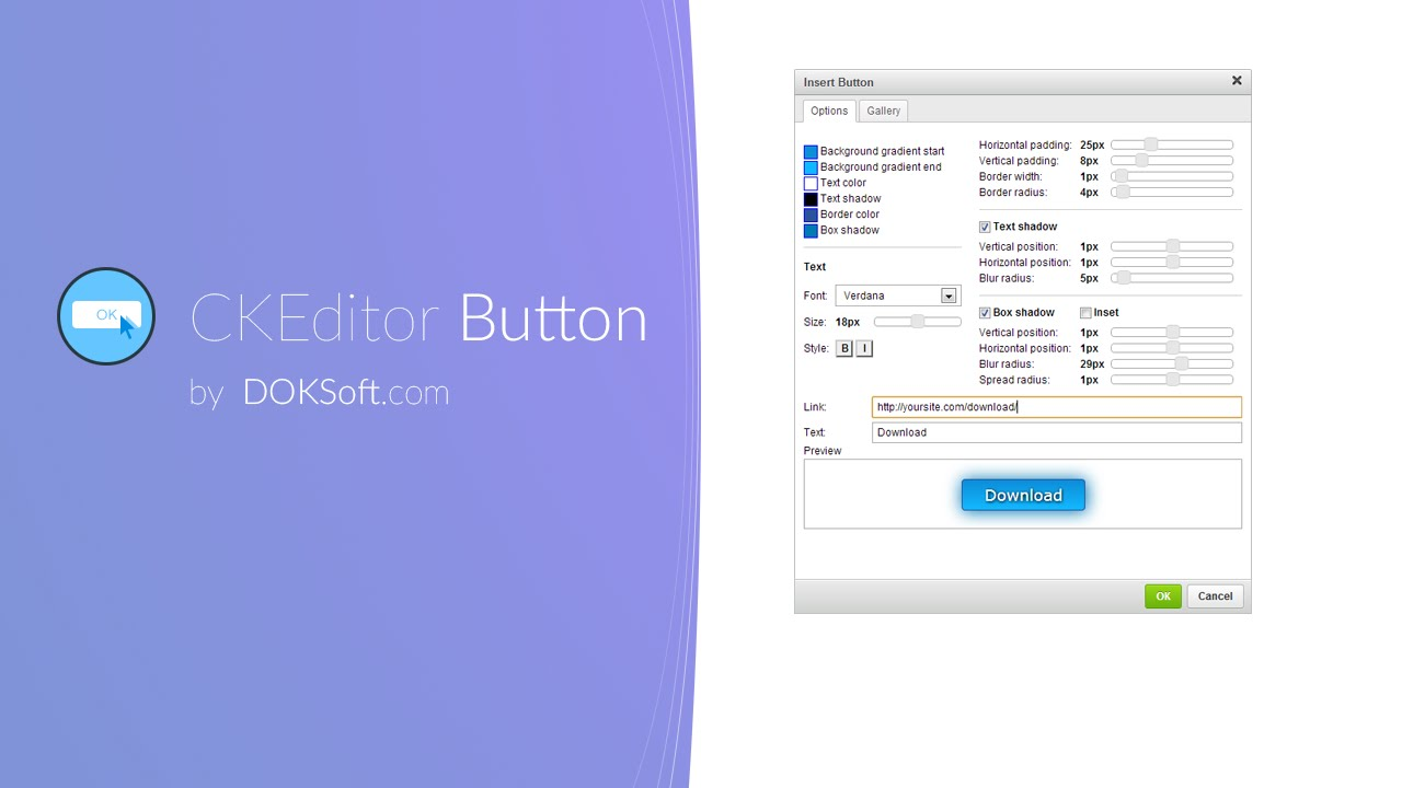 CKEditor Button demo