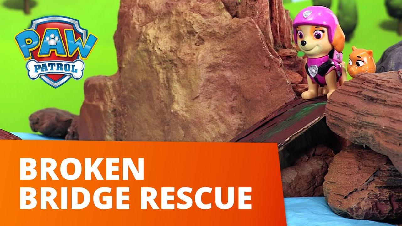 PAW Patrol | Broken Bridge Rescue! | Toy Episode