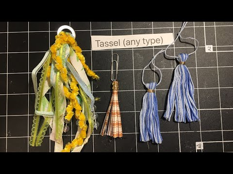 Tassel Tutorial - fluffy, paper and floss - May Mystery Mayhem Junk journal challenge