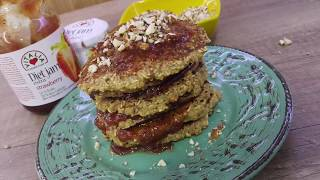 Vitalia healthy food - Овесни палачинки со џем од јагоди и кршени бадеми (vegetarian, lactose free)
